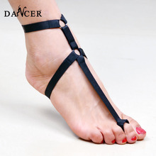 Layla Foot piece barefoot shoe sandal fetish cage harness Ro