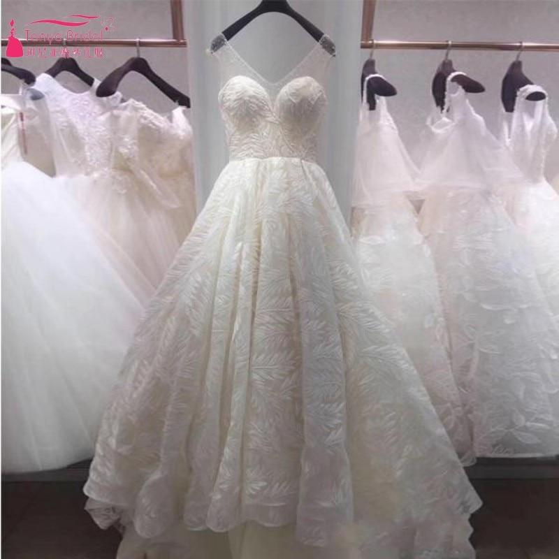 A Line Long Train Wedding Dresses 2018 vestido de noiva Unique ...