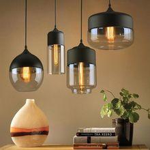 Lámpara colgante retro led para interior, lámpara colgante de vidrio ámbar, lámparas colgantes de suspensión modernas, tienda de decoración para el hogar