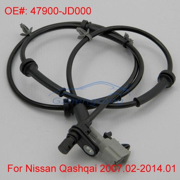 Trasero Izquierdo y Derecho ABS Sensor de Velocidad de Rueda para Nissan Qashqai