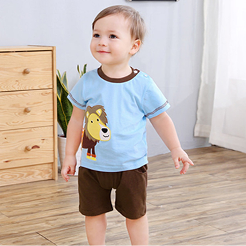 Zomer baby boy kleding set katoen leeuw t-shirt kinderen T-shirts + Shorts Kinderen Peuter jongens kleding kinderen 2019 pak