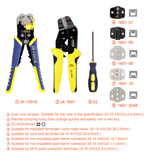 Image 2 - PARON JX D5301S Crimping Tool Professional Wire Crimper Multi tool Wire Stripper Cutting Pliers Cable Cutter Tools Set