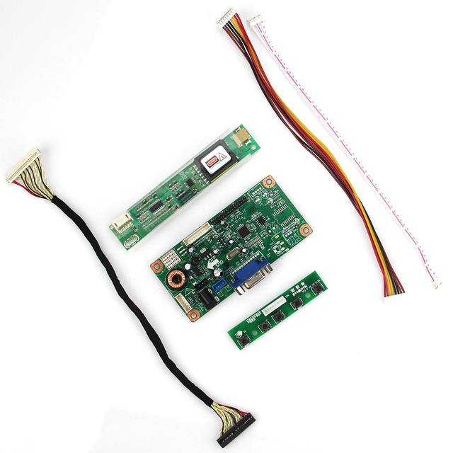 Placa de controle do Driver VGA Para LVDS Monitor de Reaproveitamento Laptop LTN156AT01 B156XW01 V.2 1366x768