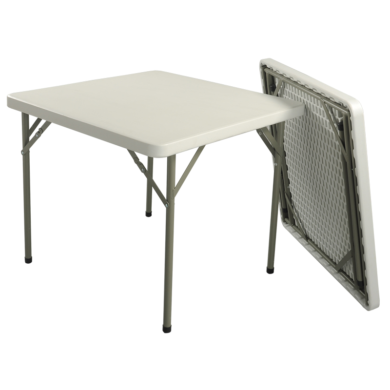hdpe plastic square folding table for hotels restaurant home and outdoor 86f