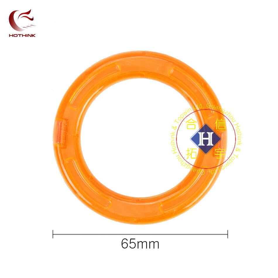 Hothink 5 pcs גדול גודל סיבוב מעגלי מגנטי בלוקים DIY בניין חלקי אבזר לבנות מגנט דגם צעצועים חינוכיים