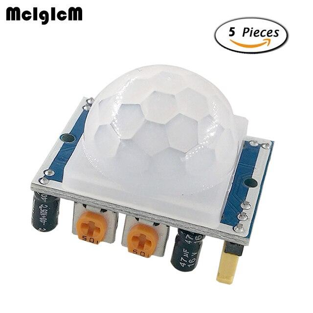 Mcigicm 5 шт. SR501 HC-SR501 Отрегулируйте пироэлектрический инфракрасный PIR модуль движения Сенсор детектор модуль