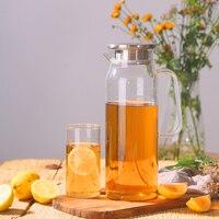 Jarro de vidro do jarro do jarro de vidro da garrafa de água da chaleira bebendo frasco 1.7l do copo da garrafa de água com filtro de aço inoxidável mlilk para a casa|Jarros| |  -