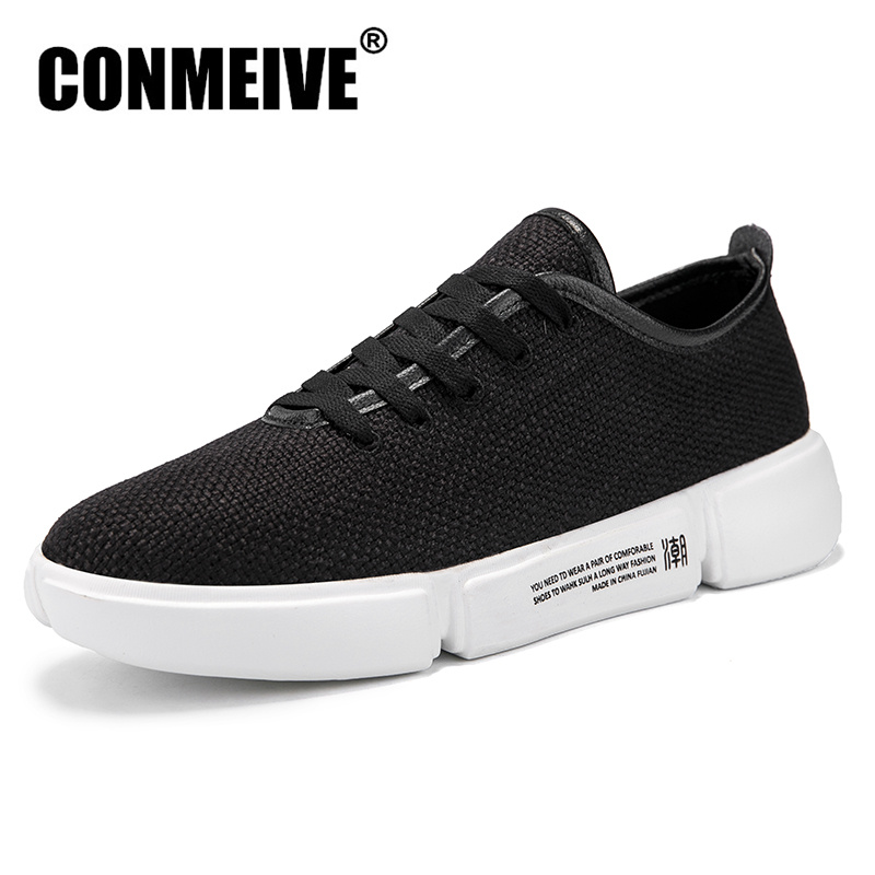 Spring Autumn Lace-Up Men Shoes Breathable Sweat-Absorbant Anti-Odor Light Male Adult Shoes Fashion Casual Mens Sneakers