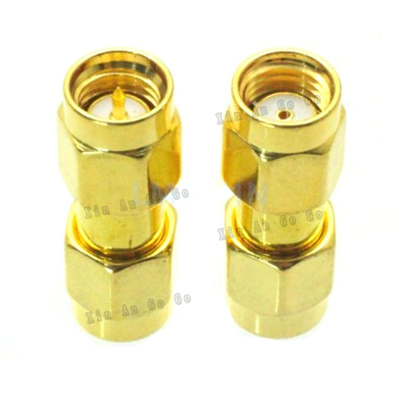 RF coaxial coax adapter SMA to SMA connector SMA male to RP-SMA male Plug adapter fast ship prada утепленная куртка на молнии