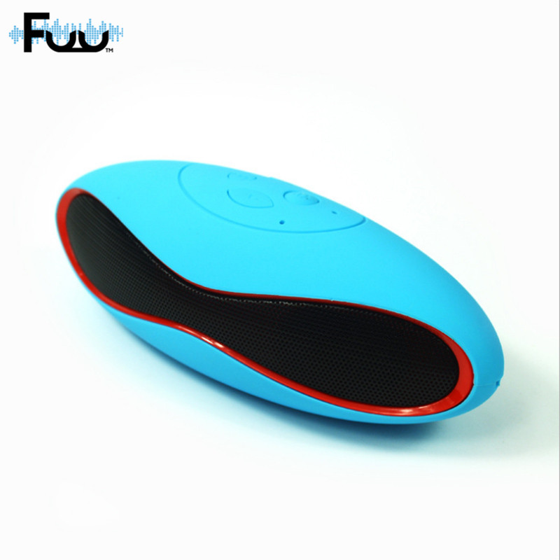 FUU Wireless Bluetooth Speaker With Card Portable Rugby Music Sound Box Subwoofer Loud speakers Stereo With Built-in Microphone