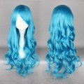 MCOSER Free Shipping High Quality Synthetic Wave Bright Blue Anime Cosplay Lolita Wig