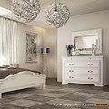 OPPEIN Мебели Для Дома Современный Матовый Лак Комод Белого цвета стиль Королевы красоты Европейский стиль спальни столик для макияжа