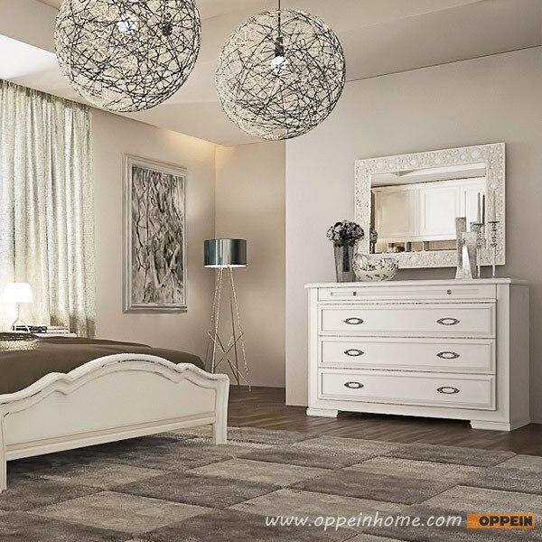 OPPEIN & Home Möbel Moderne Matte Lack Kommode Weiß farbige Königin ...