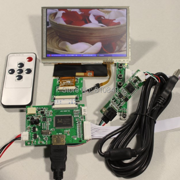 HDMI lcd Controller board+5inch HSD050IDW1 Lcd+Touch panel+Remote control b101xt01 1 m101nwn8 lcd displays