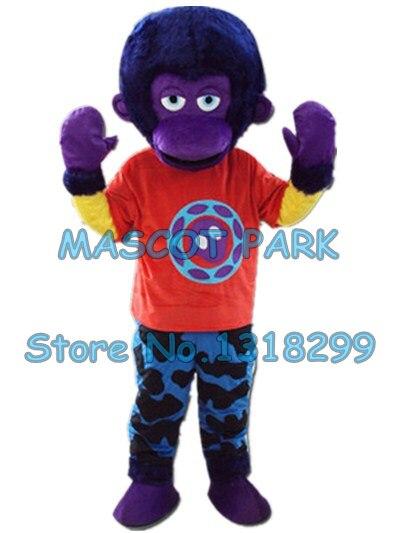 Фиолетовый обезьяна орангутанг талисмана взрослый размер пользовательские мультипликационный персонаж cosply карнавальный костюм 3278