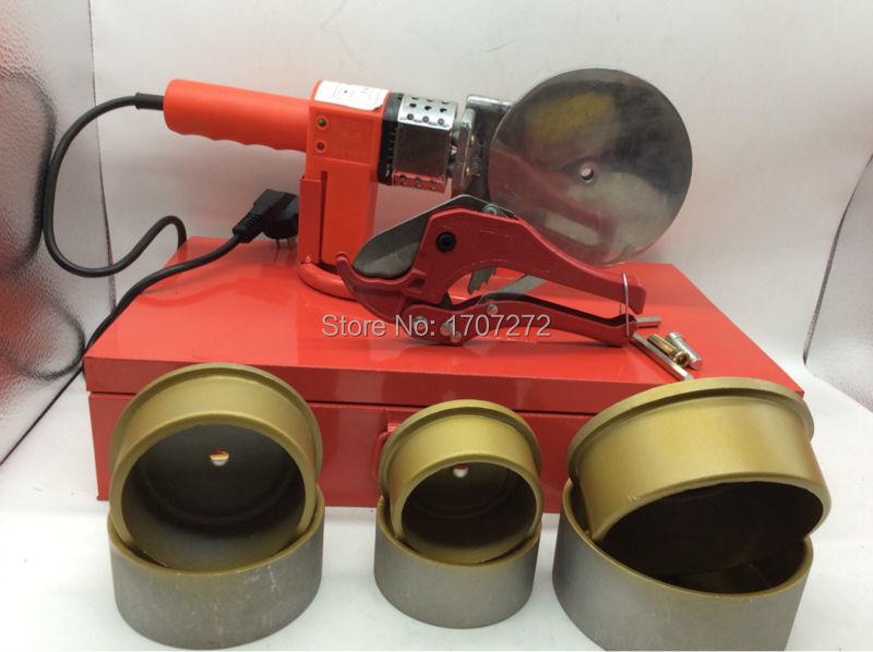 pastovios temperatūros elektroninis PPR suvirinimo aparatas, plastikinių vamzdžių suvirinimo aparatas AC 220V 1500W, 75-110 mm suvirinimo vamzdžiai