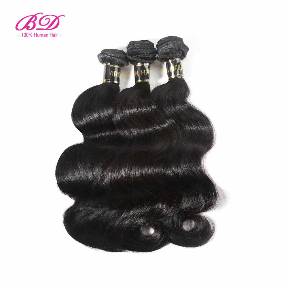 Unprocessed Brazilian Virgin Hair Body Wave Human Hair Bundles Cuticle Aligned Hair 1 piece Natural Color Free Shipping BD Hair