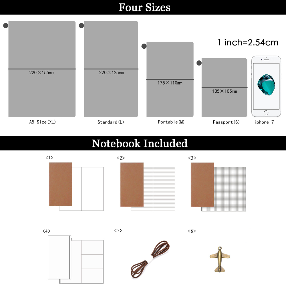 100% Äkta Läder Notebook Planner Handgjorda Bullet Journal Oljevax - Block och anteckningsböcker - Foto 2