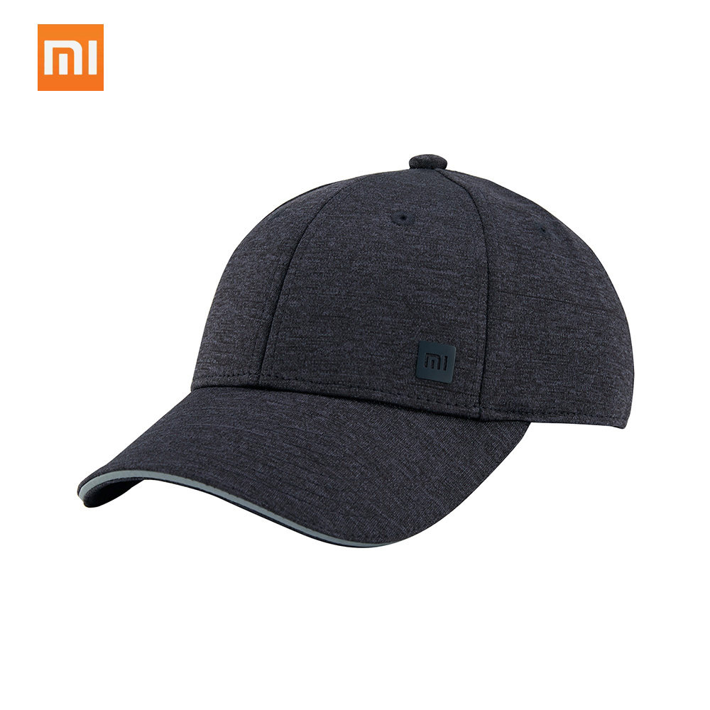 Xiaomi Youpin Trendy Solid Color Reflective Baseball Mi Cap Hat Sweat Absorption Reflective Snapback Hip Hop for Men and Women branded mens womens baseball cap snapback polo hat boys hip hop motorcycle trucker cap 2017 summer dad hat full cap bones