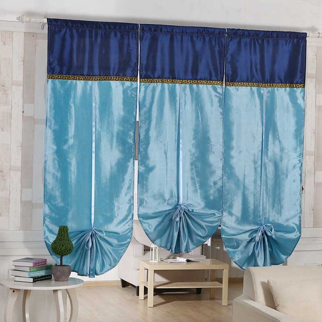 2018 New Bohemian Style Roman Curtains Sheer Kitchen Window Liftering Blinds 1pc