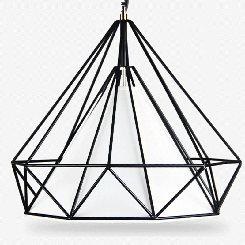 Loft retro iron art diamond bird cage chandelier Nordic simple creative bar restaurant chandeliers indoor lighting bird cage restaurant cafe bar desk study chandelier retro bird balcony chandelier