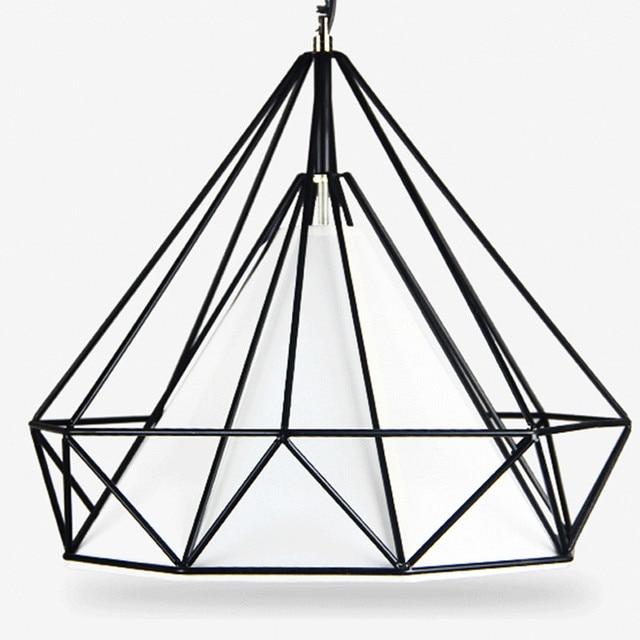 Loft retro iron art diamond bird cage chandelier nordic simple loft retro iron art diamond bird cage chandelier nordic simple creative bar restaurant chandeliers aloadofball Images