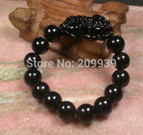 N632 10pc CHINESE Black stone Bead Dragon Pi Xiu Coin (A0427) Feng Shui Bracelet спортивный костюм xiu xiu meng gu 2015