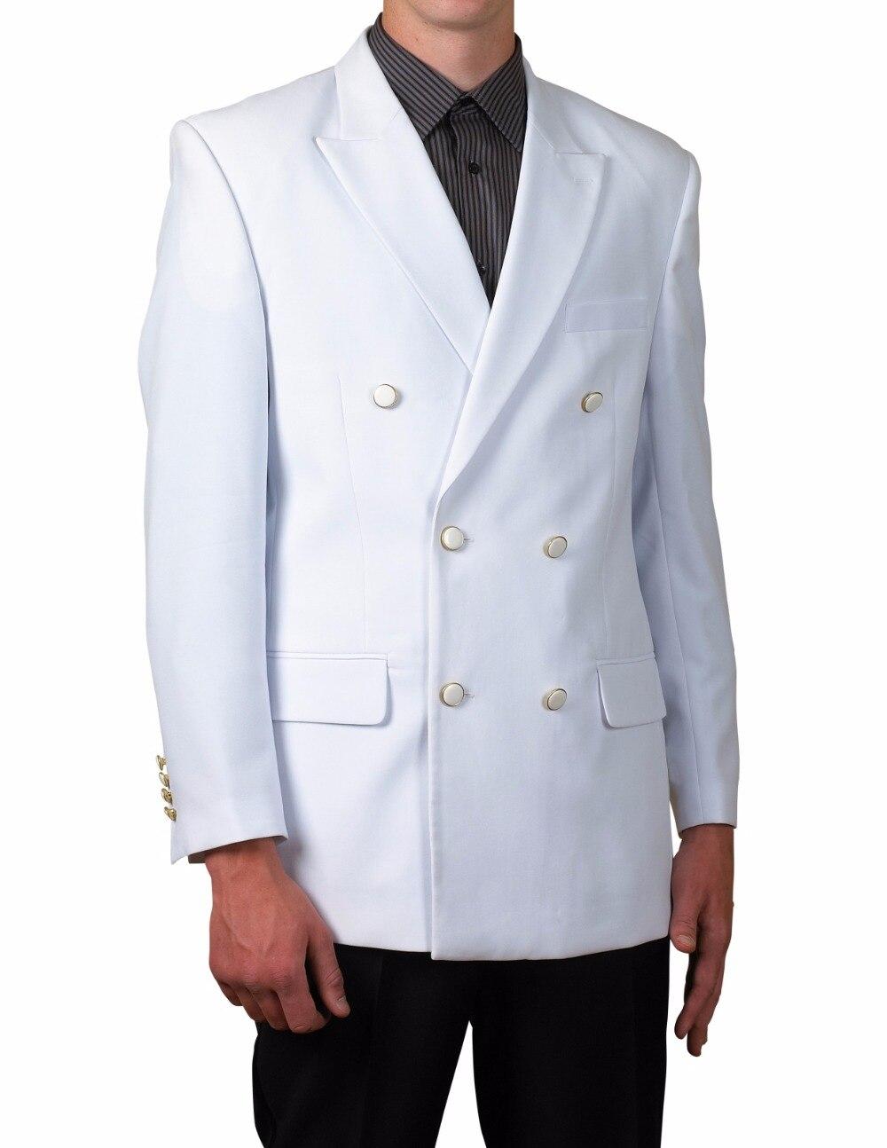 2017 New White Men Suit Slim Fit Double Breasted 2 Piece Tuxedo Custom Prom Wedding Suits Blazer Terno Masuclino Jacket+Pant