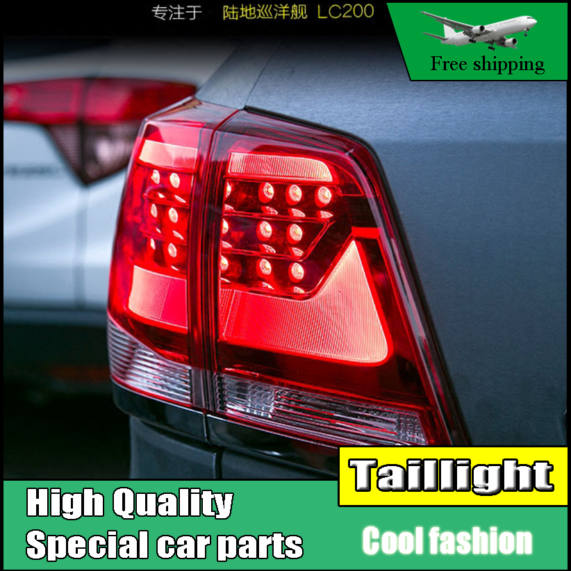 Car Styling Tail Light Case For Toyota Land Cruiser Taillights 2008-2015 LED Tail Lamp Rear Lamp DRL+Brake+Park+Signal led light