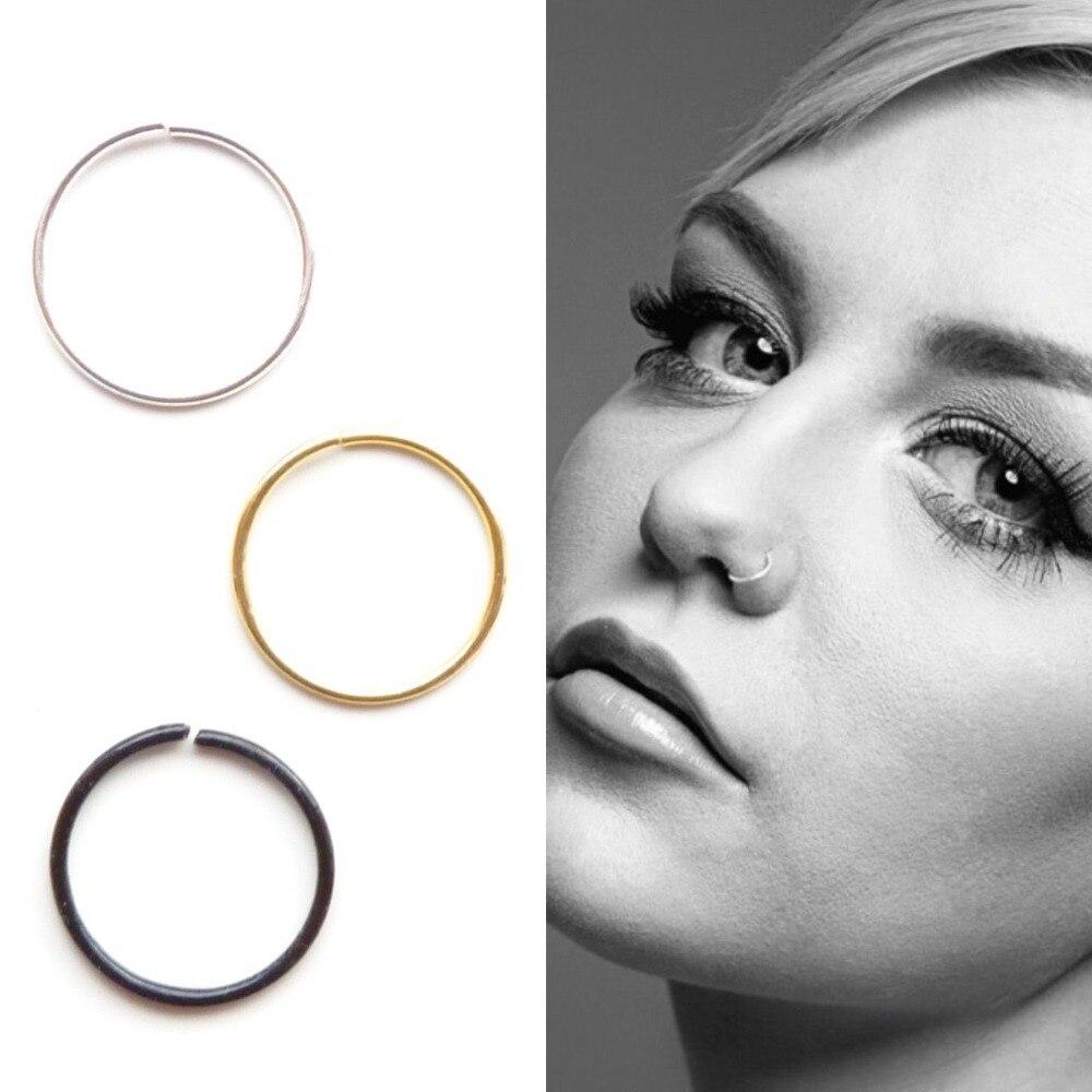 1 set/20pcs 925 Sterling Silver Nose Ring Hoop 22G piercing nose ...