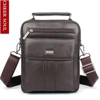 100 Fashion Genuine Leather Men Bags Small Shoulder Bag Men Messenger Bag Crossbody Leisure Bag