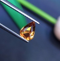 Gems CQT New No Indication Natural Vivid Yellow Sapphire 1.18ct Water Drop Cut Stone Loose Gemstones Loose Gems Stones