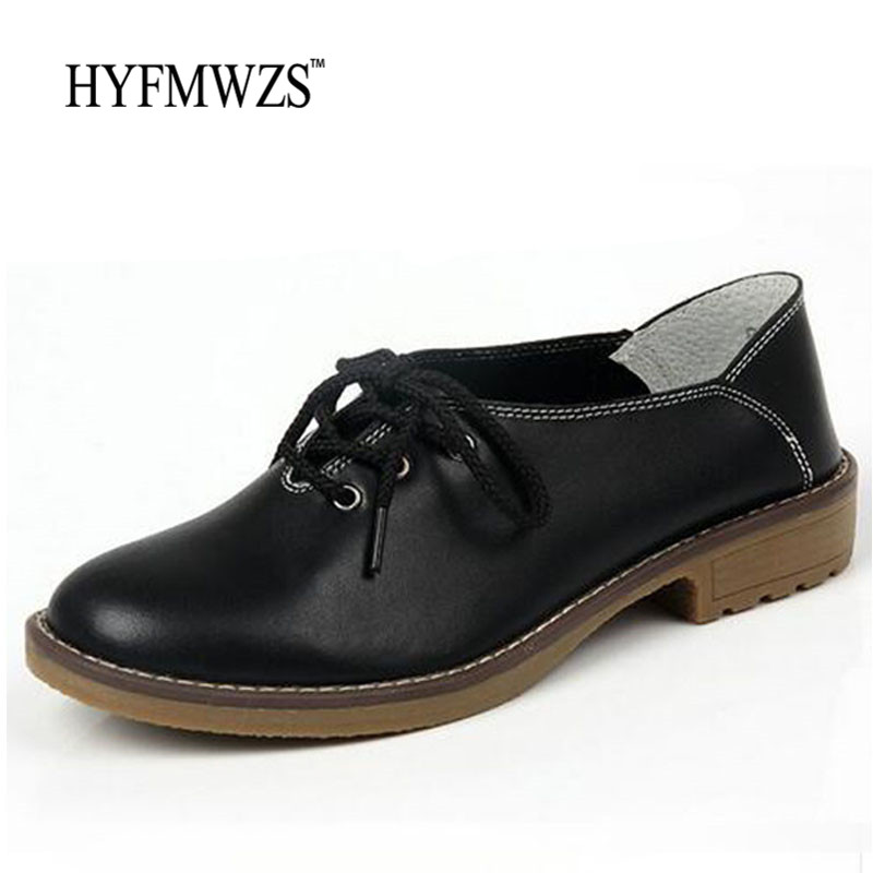 Big Size 35-42 Genuine Leather Oxford Shoes For Women Flats 2017 Fashion Ballet Shoes Moccasins Breathable Mother Zapatos Mujer timetang genuine leather shoes woman ballet flats oxford shoes for women lace up flat shoes four seasons fashion zapatos mujer