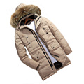 free shipping Men's winter long section of genuine clearance detachable cap and large yards thick warm down parkas  liner 260
