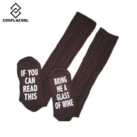 2016 Fashion Happy Socks Christmas Kawaii Funny Sock Winter If You Can Read This Bring Me