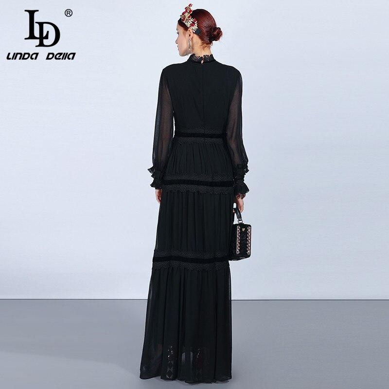 Qian Han Zi 2019 Брендовое модное платье для подиума женское элегантное платье без рукавов 100% хлопок вечерние платье с вышивкой и пайетками - 4