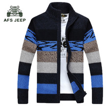 Free Shipping New Autumn Winter Sweaters Coat Men's Warm Thick Cardigan Sweaters Long-Sleeved Men's Sweaters WN 80