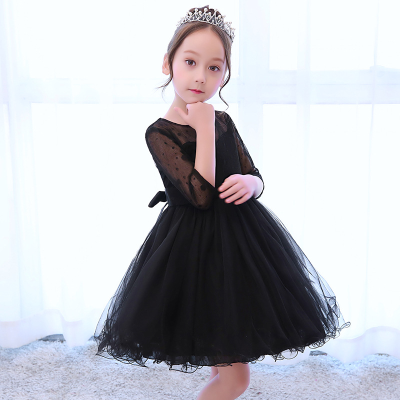 Black Fashion Girl Dresses 5 13 Years Old Birthday Party Tutu Dress Teenager Girls Prom Evening Formal Ball Gown Clothes 6120 In From Mother Kids
