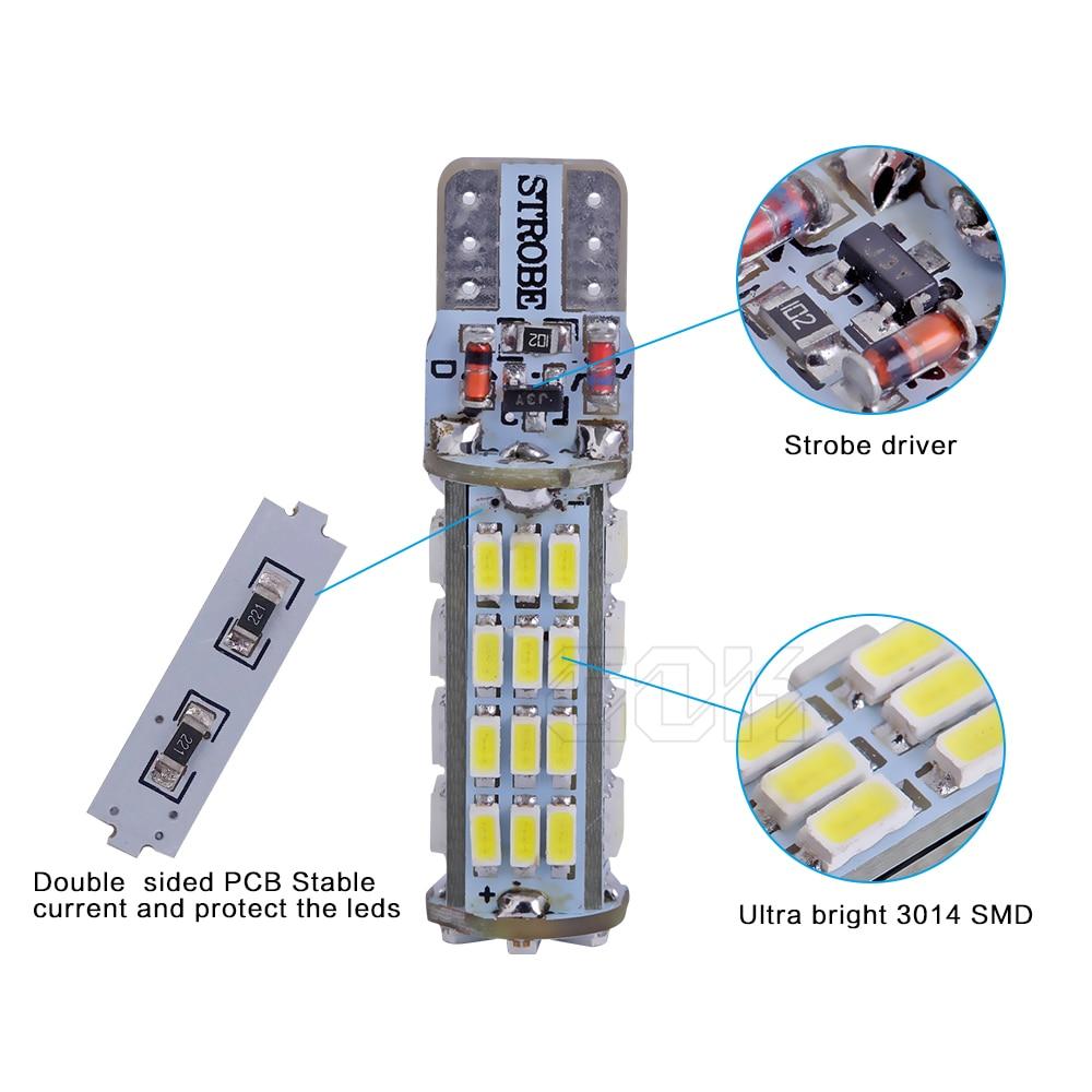 2PCS / LOT T10 led strobe բարձրորակ Strobe flash w5w LED - Ավտոմեքենայի լույսեր - Լուսանկար 5
