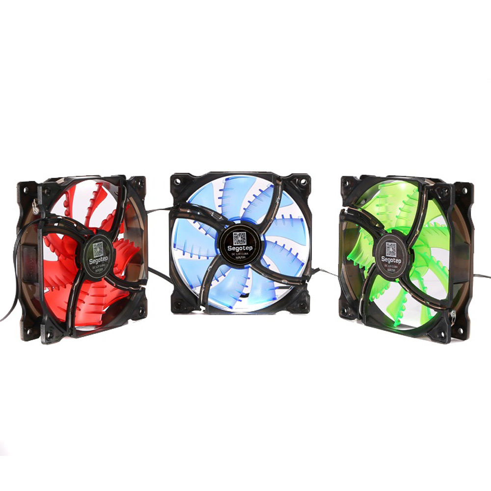 Segotep Cool Wind Heatpipe Case Cooler Heatsink Hydraulic Mute Fan Casing Yf 12 12cm Red Led Hydro Bearing Package Contents 1 X