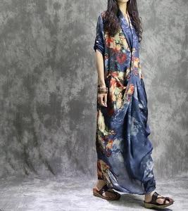 Image 4 - נשים מודפס אופנה קיץ 2 חתיכות חליפת שמלת (מחוץ ובתוך אפוד שמלת) גבירותיי Loose מודפס שמלות