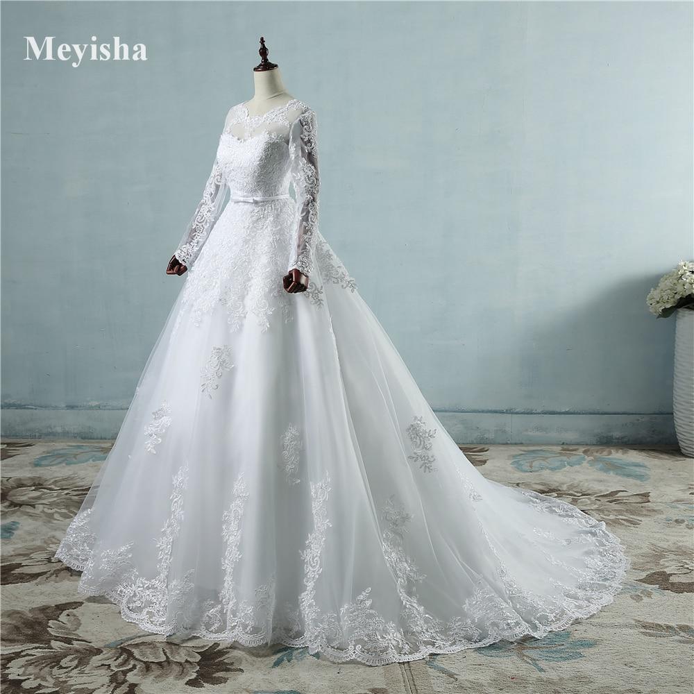 ZJ9065 corsé encaje hasta 2017 blanco vestidos de novia con encaje ...