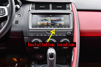 Carbon Fiber Style ABS Car Interior Center Navigation Screen Frame Trim For Jaguar E-PACE E PACE 2018 2019 Auto Accessories