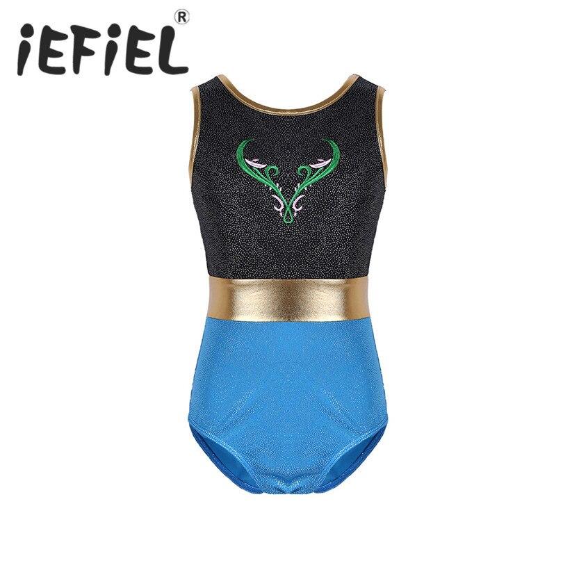 iEFiEL Kids Children Girls Splice Glittery Ballet Dance Gymnastics Leotard Tutu Dress Girls Ballerina Fairy Cosplay Costumes