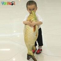 YunNasi Simulation Fish Dolls Stuffed 60cm 3D Carp Lucky Pillow Plush Toys Kids Birthday Valentine S