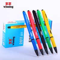 Winning 2011 синяя шариковая ручка 0,7 мм щелчок шариковые ручки 12 или 40 шт./кор. офисные материалы школьные письменные принадлежности канцелярски...