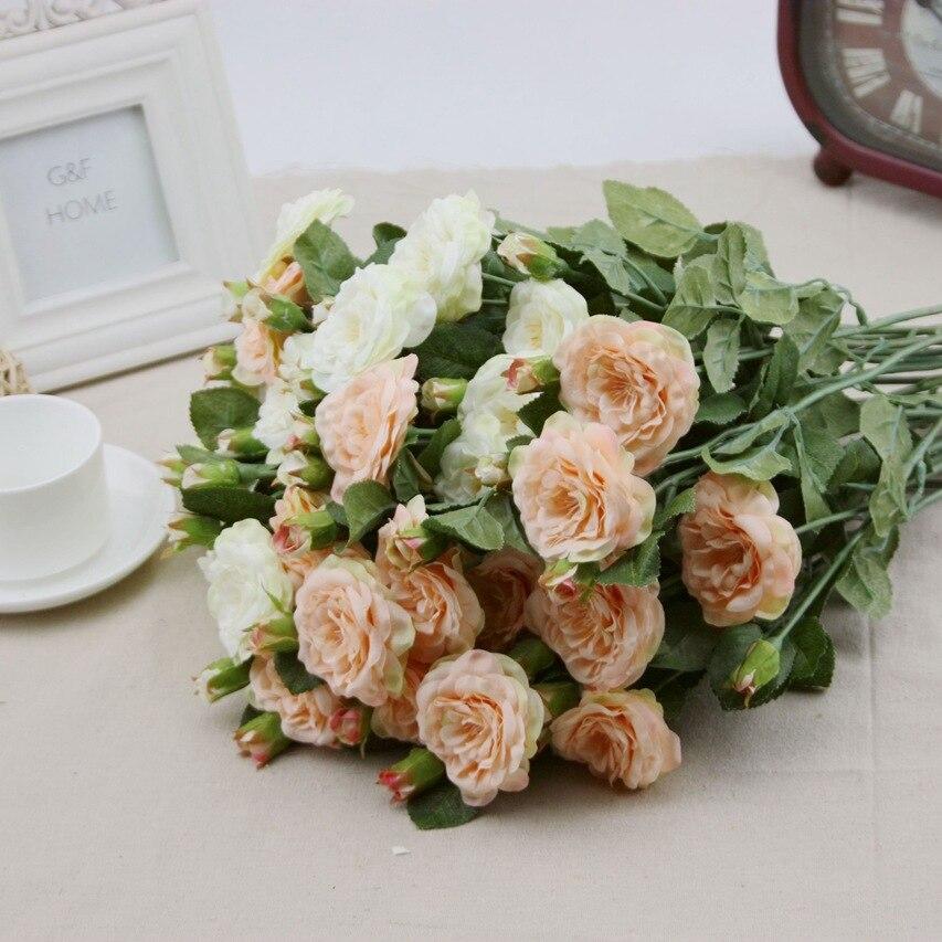 12pcs Ireland Small Factory Wholesale Flower Artificial Flower Rose