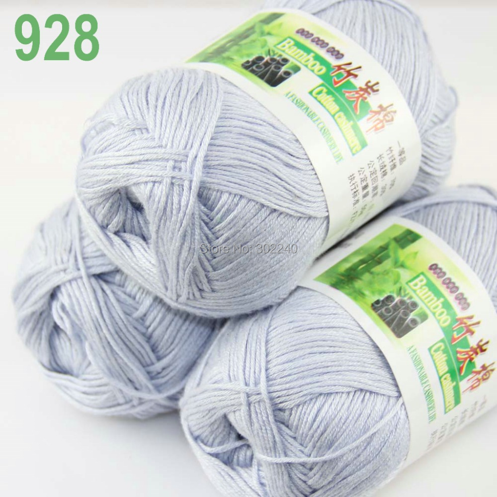 Hot Sale Lot of 3 Skeins Super Soft Natural Bamboo Cotton Knitting ...