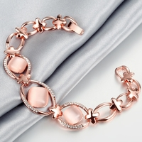 Wedding Engagement Jewelry Famous Brand 18k Rose Gold Plated Lady Id Bracelets Bangles Jewelry Factory Supplier