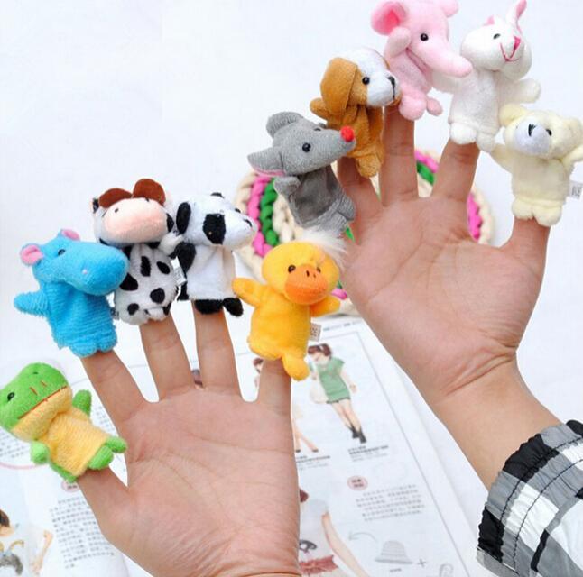 10 шт./лот, Мультяшные биологические животные, пальчиковые куклы для детей, детские полезные куклы, милые мини забавные мягкие плюшевые игруш...